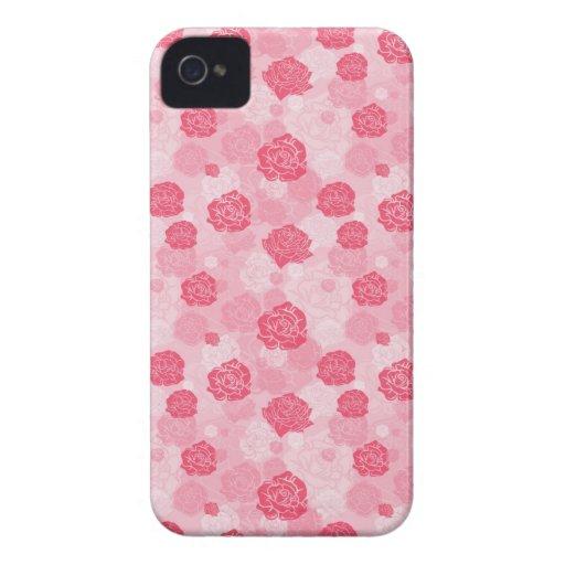 Girly Pink Rose Blackberry Bold Case