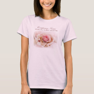 girly pink rose wedding florist business T-Shirt