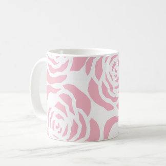 Girly Pink Roses Classic White Coffee Tea Mug