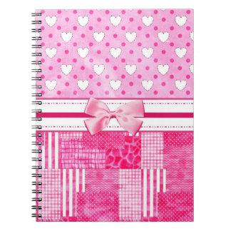 Girly Pink Scrapbook Style Notebooks