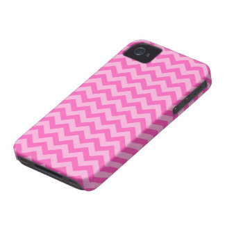 Girly pink shades chevron zigzag pattern custom Case-Mate iPhone 4 case
