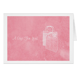 Girly Pink Shopping Spree Money Enclosed Card