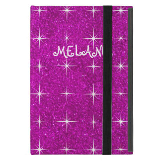 Girly pink sparkly glitter custom Ipad mini case