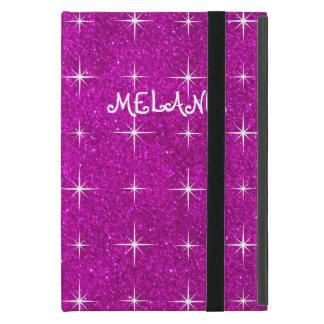 Girly pink sparkly glitter custom Ipad mini case