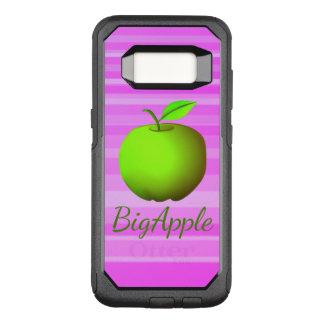 Girly Pink Stripes Green Apple Fruit Joyful Fresh OtterBox Commuter Samsung Galaxy S8 Case
