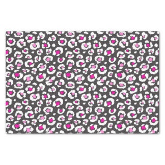 Girly Pink White and Black Leopard Print Tissue Paper