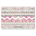 Girly Pink White Floral Abstract Aztec Pattern Tissue Paper