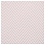 Girly pink white pastel vintage chevron pattern fabric