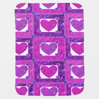 Girly Princess CricketDiane Pink Sparkly Blankie Stroller Blanket