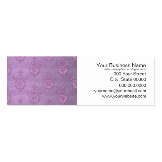 Girly Purple Lavender Damask Mini Business Card
