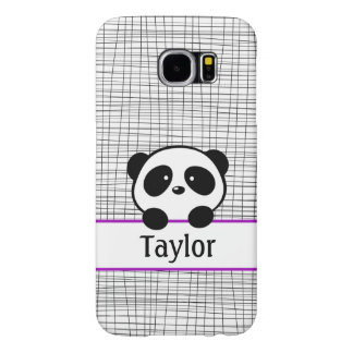 Girly Purple Personalized Panda Galaxy S6 Case
