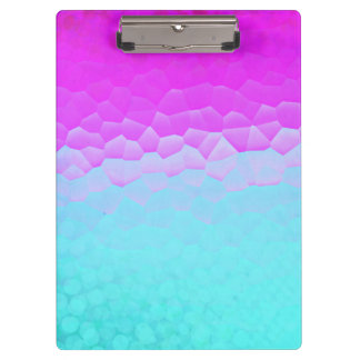 Girly Purple Turquoise Ombre Mosaic Bokeh Pattern Clipboards