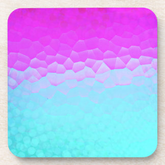 Girly Purple Turquoise Ombre Mosaic Bokeh Pattern Coasters