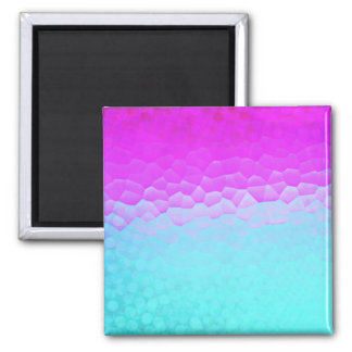 Girly Purple Turquoise Ombre Mosaic Bokeh Pattern Square Magnet