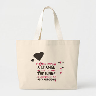 Girly Quotes Large Tote Bag