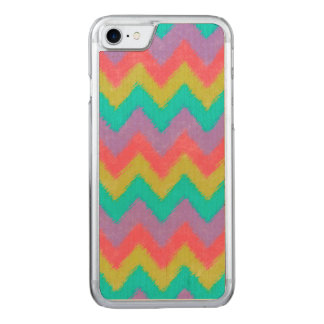 Girly Rainbow Bohemian Chevron Pattern Carved iPhone 7 Case