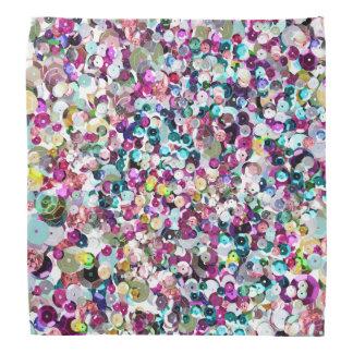 Girly Rainbow Faux Sequins Bling Bandana