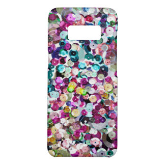 Girly Rainbow Faux Sequins Bling Case-Mate Samsung Galaxy S8 Case