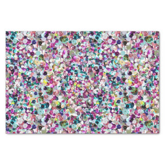 Girly Rainbow Faux Sequins Bling Tissue Paper