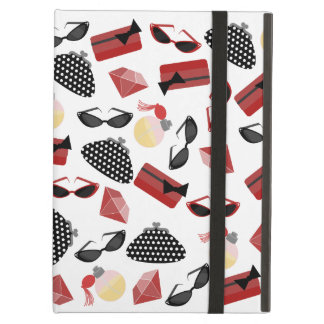Girly Red Accessories iPad Case With Kickstand