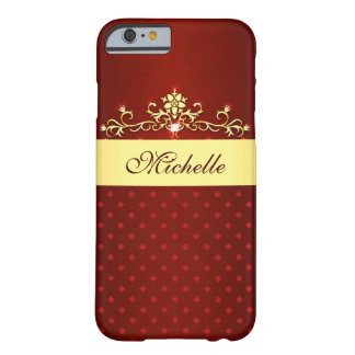 Girly Red and Gold Diamonds iPhone 6 Case Barely There iPhone 6 Case