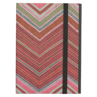 Girly Red Pink Zigzag Pattern Cover For iPad Air