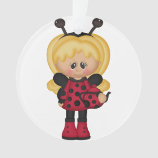 Girly Retro Ladybug Ornament
