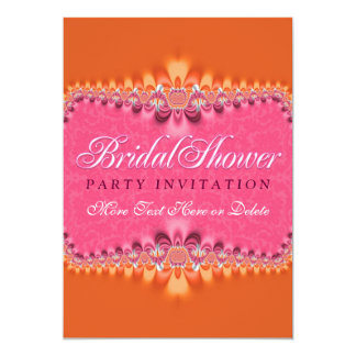 Girly Romance Pink Bridal Shower Party Invitation