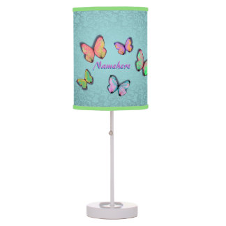 Girly Room Gift! Girly Lamp! Add her NAME! Table Lamp