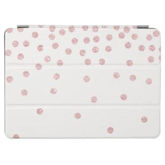 girly rose gold glitter confetti polka dots iPad air cover
