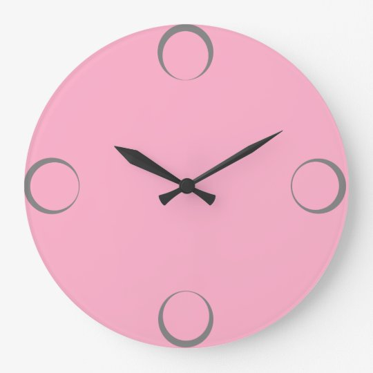 Girly round wall clock