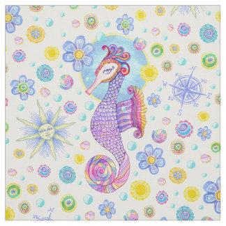 Girly Seahorse Fabric
