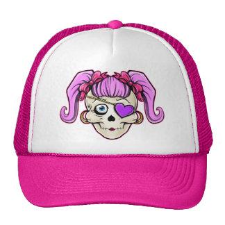 Girly Skull Design Trucker Hats