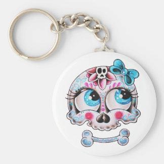 Girly skull keychain