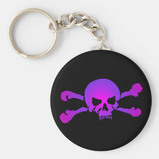 Girly Skull of the Undead Keychain