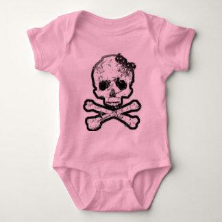 girly skull onsie baby bodysuit