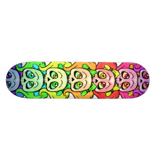 Girly Skull Totem Woody Skateboard