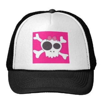 Girly skull trucker hat