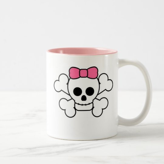 Girly Skull Two-Tone Coffee Mug