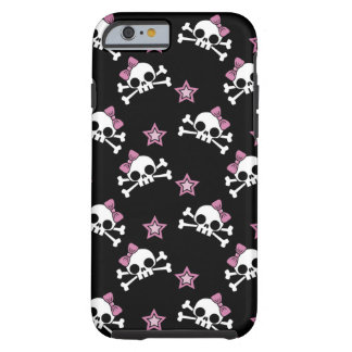 Girly Skulls with Stars Tough iPhone 6 Case