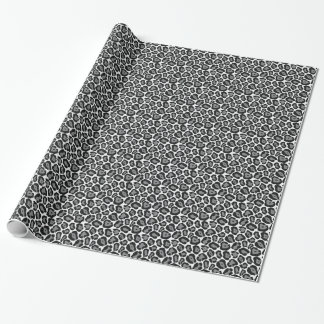 Girly Snow Leopard Pattern Wrapping Paper