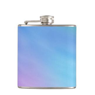 Girly Soft Rainbow Sky Hip Flask
