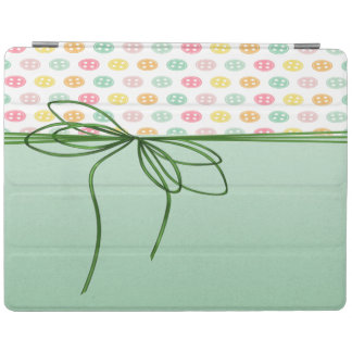 Girly Sophisticated,Buttons,Bow iPad Cover