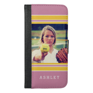 Girly Sports Stripes Look Instagram Photo Portrait iPhone 6/6s Plus Wallet Case