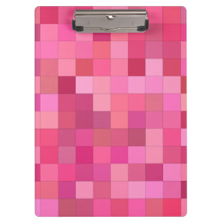Girly squares clipboard