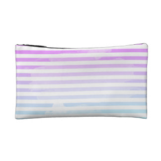 Girly stripes cosmetic bag