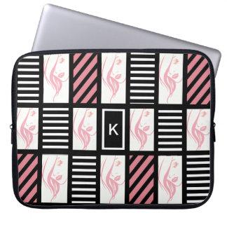 Girly Stripes Laptop Sleeve