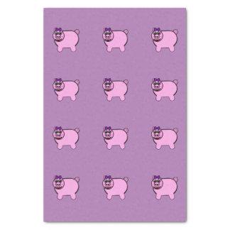 Girly Stuffed Pig Tissue Paper