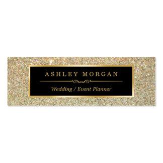 Girly Stylish and Fashion Beauty Gold Glitter Mini Business Card
