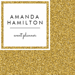 Nail technician business cards profile cards zazzle ca girly stylish fashion gold glitter white square square business card reheart Gallery
